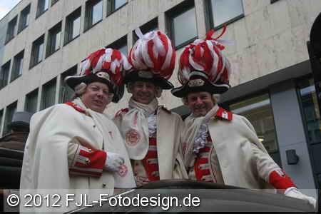 Einzug des Kölner Dreigestirns in die Hofburg
