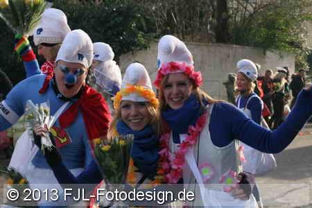 Karnevalszug in Köln-Brück am 10.02.2013