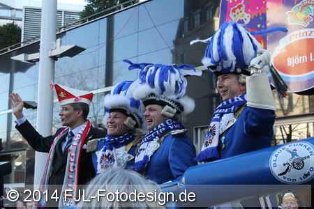Einzug des Kölner Dreigestirns 2014 in die Hofburg