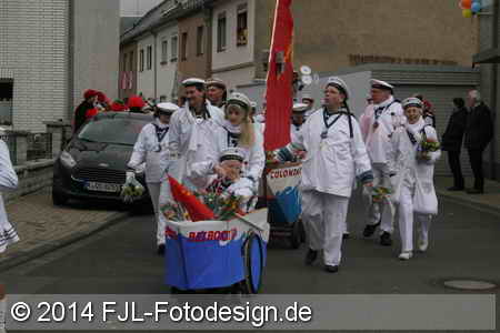 Karnevalszug in Köln-Mauenheim am 01.03.2014