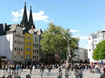 Spaziergang in Köln im April