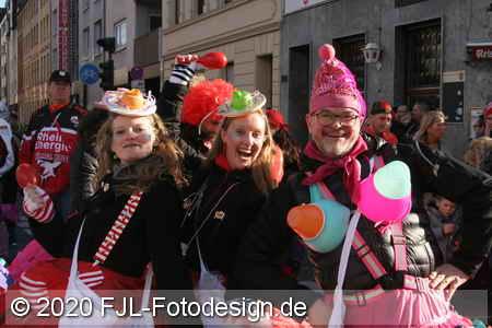 Karnevalszug in Köln-Ehrenfeld 2020